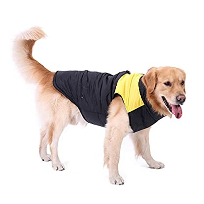 PAWZ Road Pet Clothes For Small Medium and Large Dogs Winter Warm Vest Jacket Easy On/Off Yellow 5L 1
