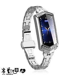 DAM. DMAB0068C94 Smartwatch B78 mit Sportmodus, Blutsauerstoff, Benachrichtigungen Kompatibel mit Android E iOS. Intelligente Uhr Silber