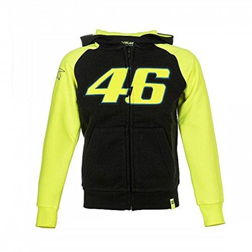 Valentino Rossi Vrkfl308304001 Kapuzenpullover mit Reißverschluss Bambino Black, 1-3 Years 62.6 Cm/Rnum/24In Chest