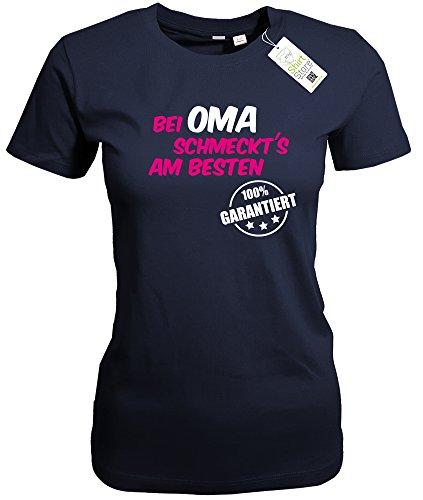 BEI OMA SCHMECKT`S AM BESTEN - WOMEN T-SHIRT Navy