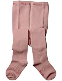 Weri Spezials Enfants Collants, Couleur unie, Surface douce, Rose