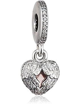 Pandora Damen-Bead Geflügeltes Herz 925 Silber Zirkonia lila - 791737CZ