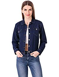 579291fdb48d Mia Fashion Stylish   Trendy Blue Denim Jackets for Women and Girls Full  Sleeves Jackets