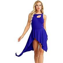 IEFIEL Vestido De Patinaje artistico Latina Clásica Tango Vestido de Danza  Ballet para Mujer Maillot De 39b77cc2efe4