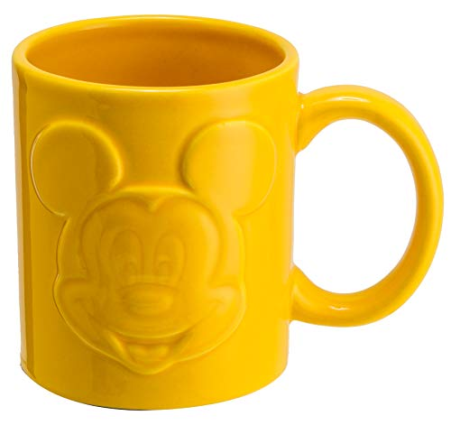 Joy Toy 62137 Mickey Mouse RELIEFTASSE 320 ML, Jaune