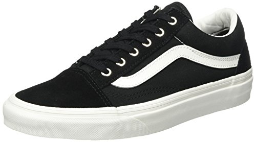Vans Unisex Adults' Old Skool Trainers, Black ((Snake) Black/Blanc), 6.5 UK 40...
