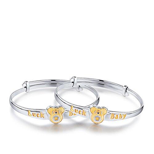 Bracelet définit/925 SilverPt Bracelets platine/ bébé cadeaux d'anniversaire A