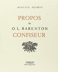 Propos de O. L. Barenton, confiseur