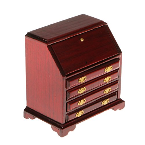 MagiDeal 1:12 Puppenhaus Miniatur Möbel Aus Holz Wohnzimmer Schrank Schlafzimmer