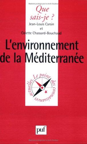 L'Environnement de la Méditerranée