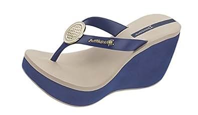 ipanema premium sidewalk wedge frauen flip flops sandalen navy 35 36 schuhe. Black Bedroom Furniture Sets. Home Design Ideas