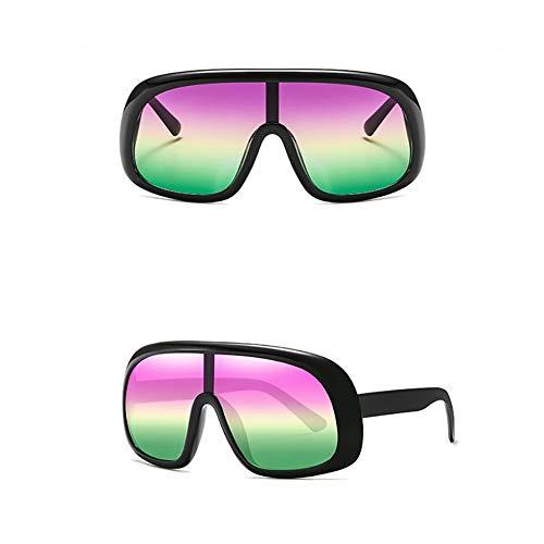 MMCP Sonnenbrillen mit großem Rahmen, Bonbonfarben Brillen Einteilige Sonnenbrille für Shopping Golf Fahren Reisen Unisex Polarized Sunglasses,5