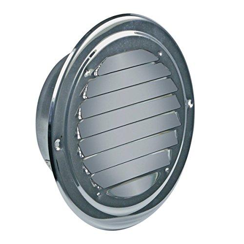 VIOKS Abluft Haube Lufthaube Lüftung Aussenhaube Aussengitter Anschluss: 125mm mit: Insektenschutz für Dunstabzugshaube Klimagerät oder Trockner