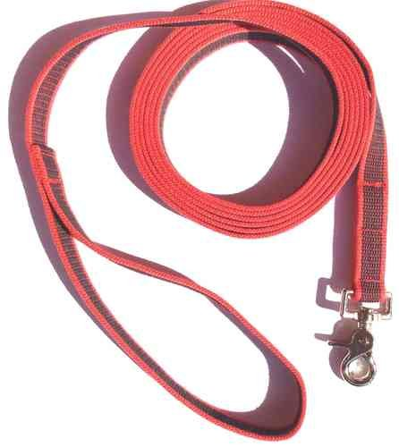 dogs-and-more-traino-corda-in-gomma-con-strap-3-metri-in-rosso