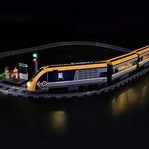 LIGHTAILING Set di Luci per (City Treno Passeggeri) Modello da Costruire - Kit Luce LED Compatibile con Lego 60197 (Non… 0746362889159 LEGO