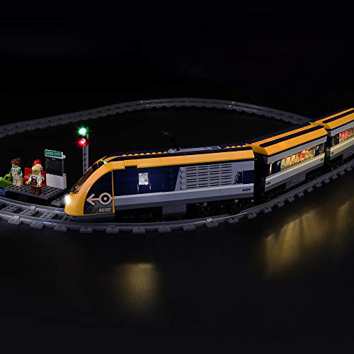 LIGHTAILING Conjunto de Luces (City Tren De Pasajeros) Modelo de Construcción de Bloques - Kit de luz LED Compatible con Lego 60197 (NO Incluido en el Modelo)