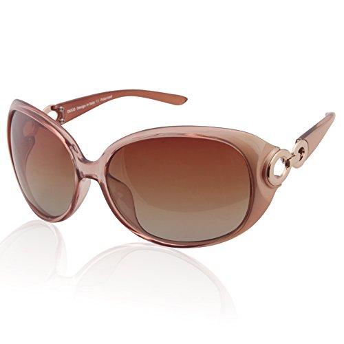 Duco classic star occhiali da sole polarizzati 100% protezione uv delle donne 1220