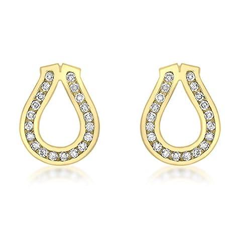 Carissima Gold 9 ct Yellow Gold 0.33 ct Diamond Set