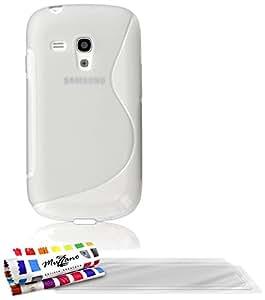 MUZZANO Coque Souple Ultra-Slim - Le S - Premium Transparent pour SAMSUNG GALAXY S3 MINI ( I8190 ) + 3 Films de protection écran