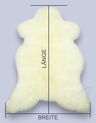 Öko Lammfell Schaffell weiß ca. 90-100 cm echtes Fell - Bild 2