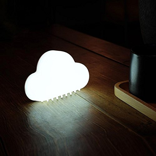 Mini lumière de Nuit, contrôle sonore Automatique et Lampes de Chevet magnétiques Souples de Dimion de Silicium, lumières Rechargeables de Nuage de LED pour la Chambre d'enfants, White Light