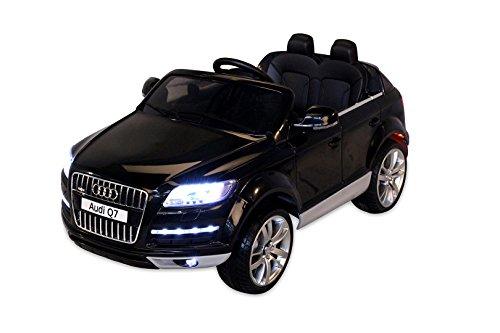 *Kinder Elektro Auto Lizenzierter Audi Q7 Lizenziert 2 x 45 Watt Motor Original Kinderelektroauto Kinderfahrzeug (schwarz)*