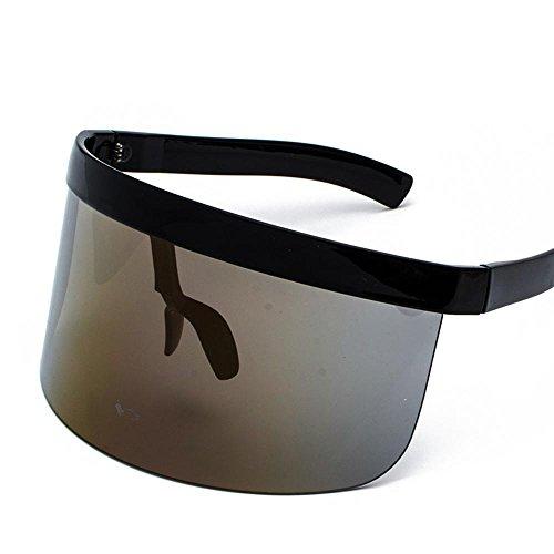 Aoligei Großen Rahmen Anti-Peeping Sonnenhut Brille All-in-One persönliches Gesicht Maske Sonnenbrillen Mode-Trends