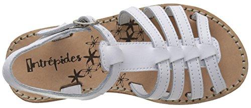 Babybotte Ylona4, Sandales Bout Ouvert Fille Blanc (Blanc)