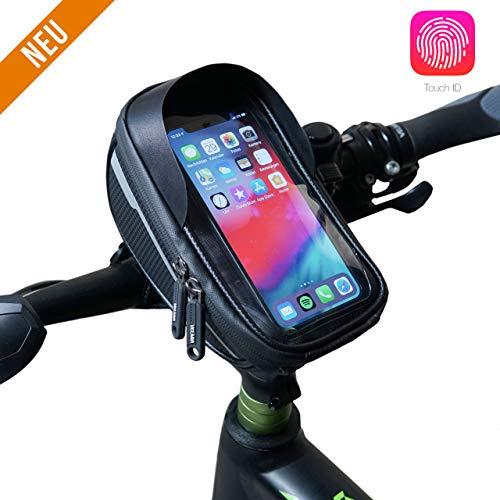 Handyhalterung Fahrrad Wasserdicht - Fahrradhalterung Handy - Fahrradzubehör - Fahrrad Handytasche - Smartphone Halterung Fahrrad - Handy Halterung Fahrradlenker - Lenkertasche - MTB Handyhalterung
