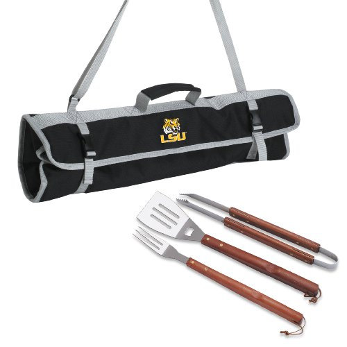 Picnic Time NCAA LSU Tigers 3-teilig BBQ Tote -