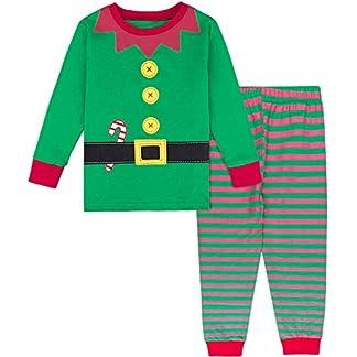 MOMBEBE COSLAND Conjunto de Pijamas Bebé Niños Navidad Manga Larga 100% Algodón