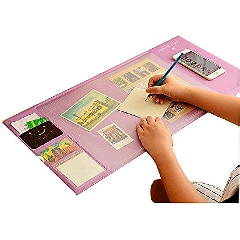 Hensych multiusos Cartapacio suave y con soporte de teléfono/Mouse Pad antideslizante de oficina de gran/2Tarjeta Organizador Calendario bolsillos/1Ranura para lápiz buen ordenadores portátiles ordenador de sobremesa accessories-320mm X