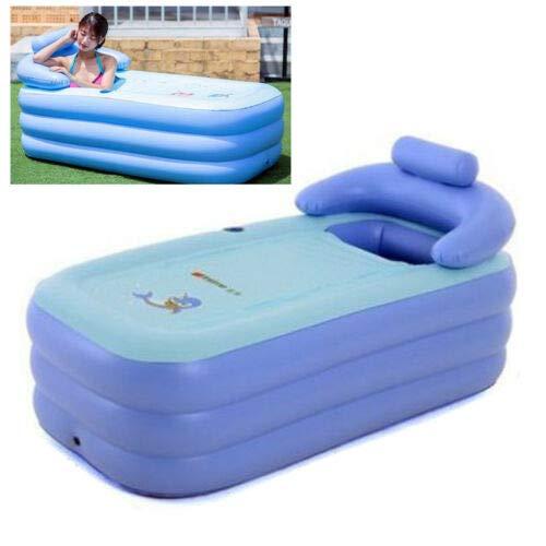 BTdahong Durable SPA PVC Aufblasbare Badewanne Bathtub für Erwachsene Pool Reise Wanne für Dusche 160 * 82CM