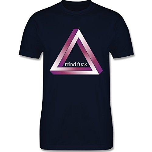 Nerds & Geeks - Tribar - Mind fuck - Herren Premium T-Shirt Navy Blau