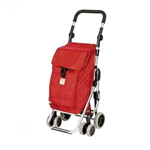 Carrello spesa rosso 4 ruote go up play casa e for Carrello spesa go up