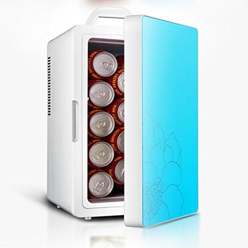 Réfrigérateur voiture 16L, voiture et famille double mini réfrigérateur chauffage et la réfrigération à double usage (Couleur : Bleu)