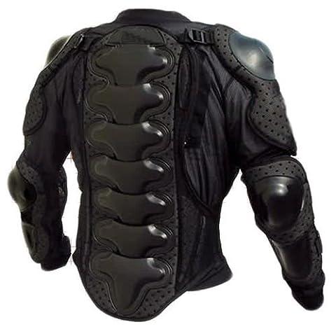 HUKITECH Veste de protection pour moto avec protection dorsale (Taille L)