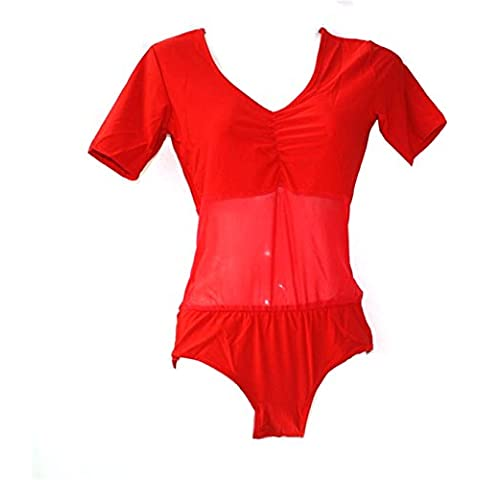 Donne Sexy Danza Tops Danza del ventre Costume Unitard Tops corta One-piece Danzawear