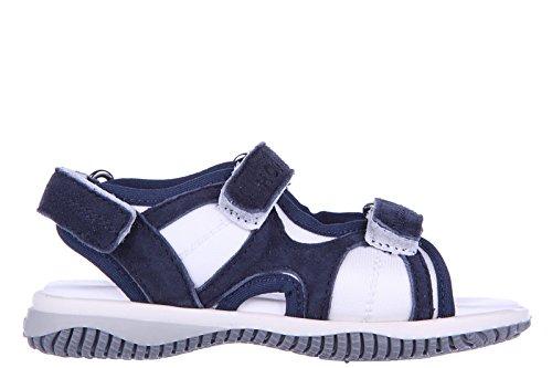 Hogan sandali bimbo bambino in pelle j114 tri-strap bianco EU 27 HXT114048008FJ1563