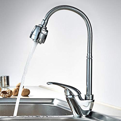 FRAP F4303 Kitchen Desk Mounted Hot and Cold Single Handle Sink Faucet - 2 Gpm Flow Control