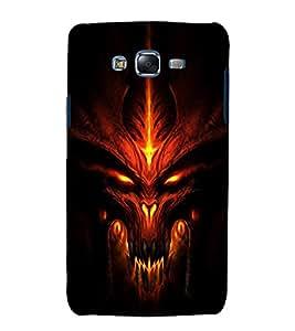 printtech Diablo Demon Game Face Back Case Cover for Samsung Galaxy Grand 3 G720 / Samsung Galaxy Grand Max G720