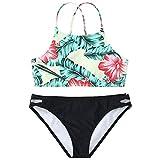 XuxMim Damen Print Push-Up Gepolsterter BH Beach Bikini Set Badeanzug Beachwear Bademode