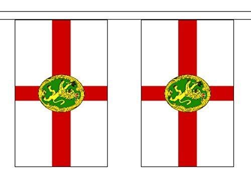 Alderney ANGLO-NORMAND îles polyester BRUANT de DRAPEAU 3m (10') bannière avec 10 DRAPEAUX