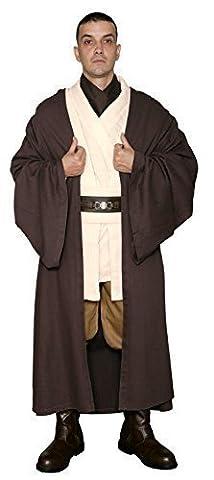 Star Wars Obi-Wan Kenobi Jedi Ritter Kostüm - Körper Tunika mit Dunkelbraun Jedi Robe - Replik Star Wars Kostüm - Braun, Herren L