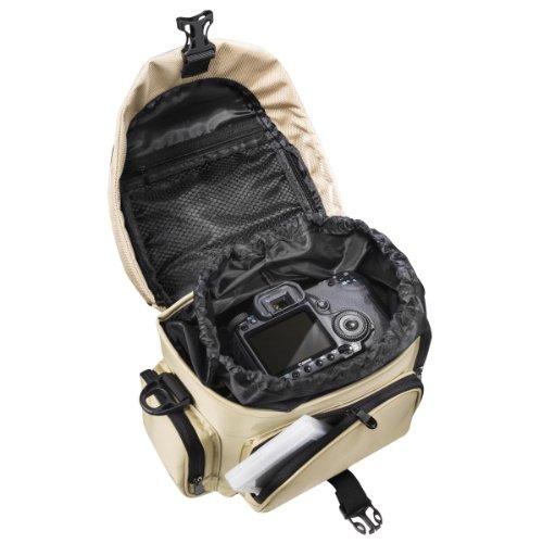 Mantona Premium DSLR-Kameratasche (inkl. Schnellzugriff, Staubschutz, gepolsteter Tragegurt und Zubehörfach) schwarz schwarz