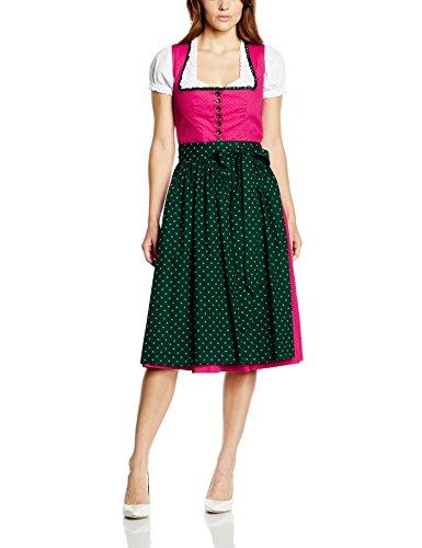 Berwin & Wolff Damen Dirndl Kleid 856160, Midi Mehrfarbig (Beere-Tanne 6817)