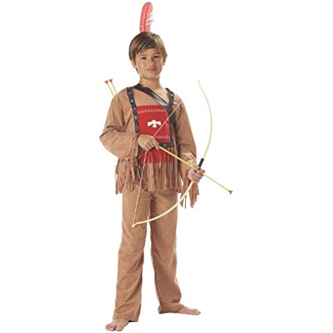 Costume Carnevale Halloween Indiano d'America Capo Sioux Apache - bambino Large