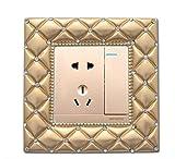 NaXinF Lichtschalter Aufkleber Cover Schalter dekorative Abdeckung Luxus kreative Schalter Wand Sticker_Gold