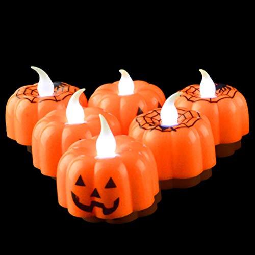 Kerzen Halloween Dekor - Batteriebetriebene Teelichter, 12er Set ()