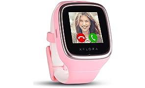 XPLORA 3S - Smartwatch Resistente al Agua para tu hijo (SIM no incluida) - Llamadas, Mensajes, Modo Colegio, función SOS, Localización GPS y Cámara, Rosa